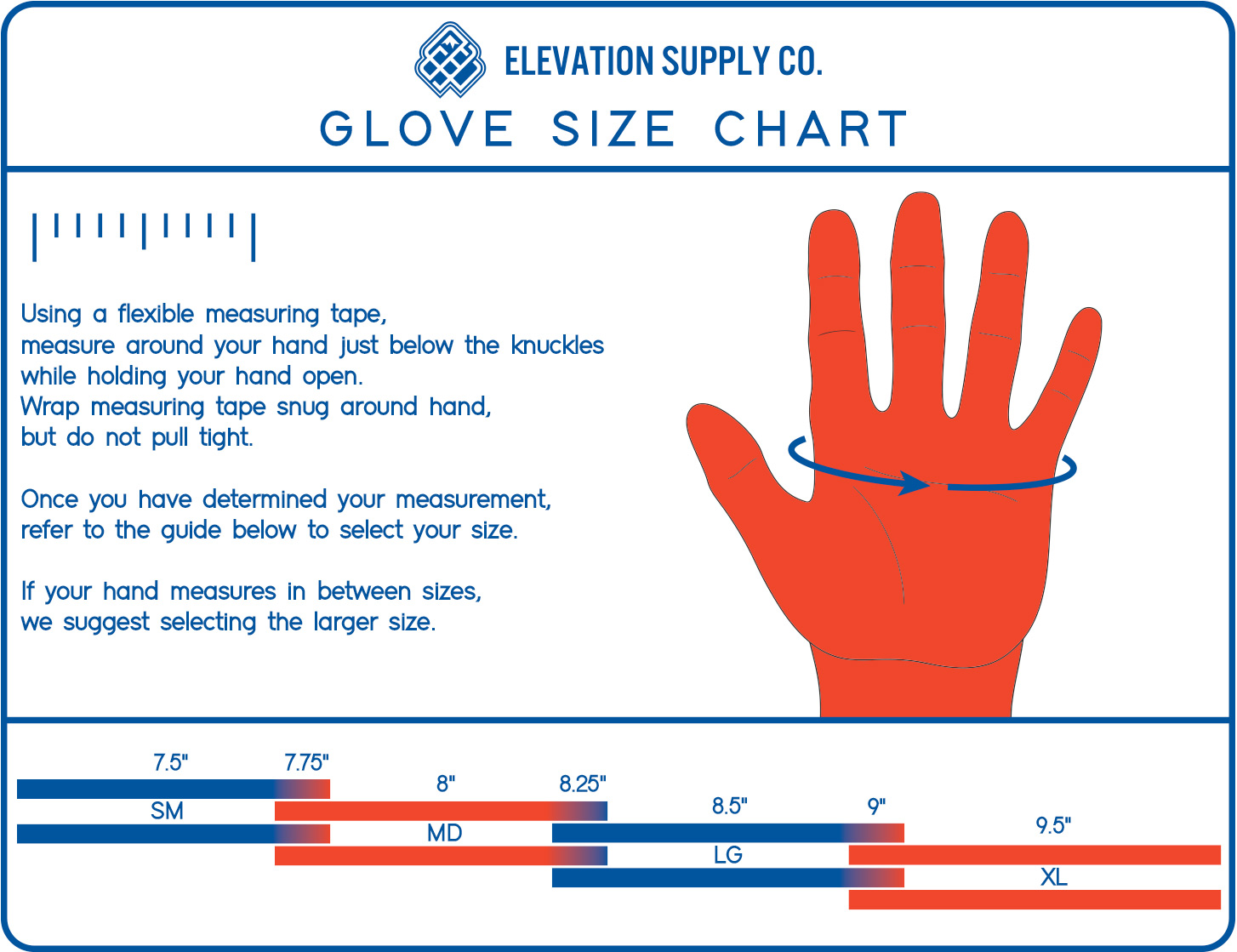 Esc Gloves Glove Sizing Chart Information Recommendations